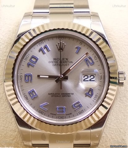 rolex datejust ii silber blau arabisches for 7 742 for sale from a trusted. Black Bedroom Furniture Sets. Home Design Ideas
