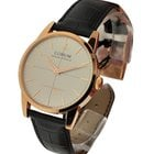 Corum Vintage Grand Precis in Rose Gold - on Black Leather...
