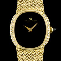 IWC 18k Y/G Diamond Set Black Onyx Dial Vintage Mid-Size 8209
