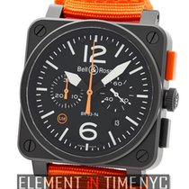 Bell & Ross Aviation Carbon Orange Chronograph Limited...