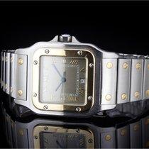 Cartier Santos (29x40mm) Stahl/Gold Quartz mit Champagner...