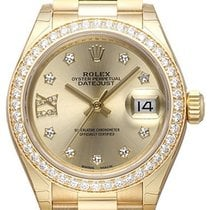 Rolex Lady-Datejust 28 18 kt Gelbgold 279138 RBR Champagner DIA