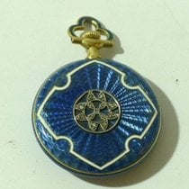 Antique HAAS NEVEUX 18k Gold Pendant Pocket Watch with Diamonds