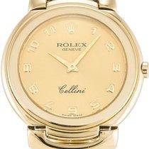 Rolex Cellini Quartz Ladies 6622-8 Champagne Roman Yellow Gold...