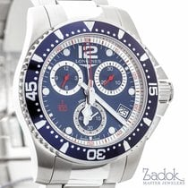 Longines HydroConquest 41mm Stainless Steel Quartz Chronograph...