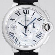 Cartier Ballon Bleu Chronograph w6920003 Silver Dial on Strap...