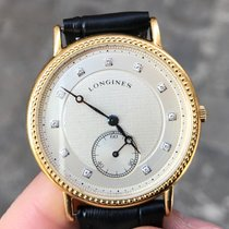 Longines Oro 18kt Gold quarzo 35 mm diamanti diamonds