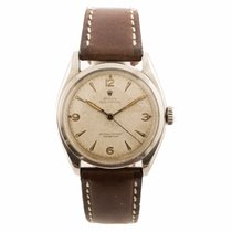Rolex Oyster Perpetual 6084 Stainless Steel Watch on Leather...