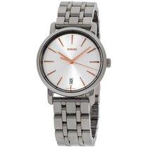 雷达 (Rado) R14064107 Diamaster Ceramic Mens Watch - Silver Dial