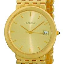 "Gent's 14K Yellow Gold Geneve ""Classique"" Dresswatch."