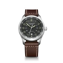 Victorinox Swiss Army Airboss grey dial, leather bracelet,...