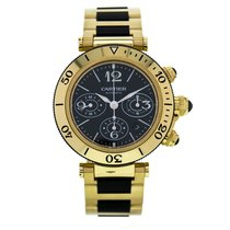 Cartier Pasha Seatimer Yellow Gold Automatic Black Dial...