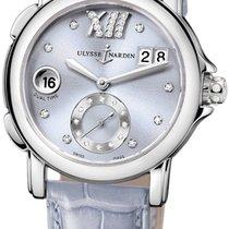 Ulysse Nardin GMT Big Date Purple Diamond Dial Stainless Steel...