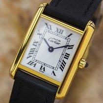 Cartier Tank Ladies Must De Cartier Swiss Made 925 Silver...