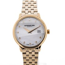 Raymond Weil Toccata 29 Yellow Gold Mother of Pearl Diamond Dial