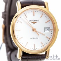 Longines Elegant Automatic Watch 27mm 18k Rose Dress Gold...