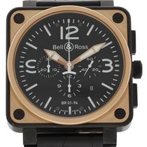 Bell & Ross Officer BR01-94 18K Rose Gold & Carbon...