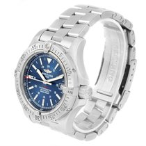 Breitling Colt Automatic Stainless Steel Blue Dial Mens Watch...