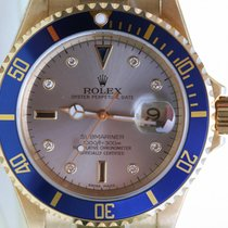 勞力士 (Rolex) Mens Submariner Watch 18k Gold Factory Dial 2005