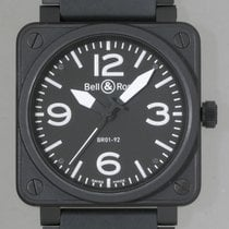 Bell & Ross BR01-92-CARBON 46mm Black PVD Stain Black Dial...