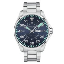 Hamilton Men's H64615145 Khaki Pilot Day Date Automatic