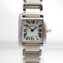 Cartier Tank Francaise Stahl /Gold Revisioniert