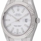 Rolex Datejust II : 116334 white dial on heavy Oyster bracelet...