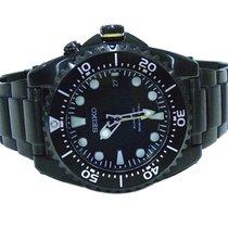 Seiko Kinetic Scuba Divers 200M Black Steel Mens Watch