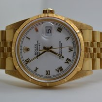 Rolex Oyster Perpetual Datejust 18k Gold N-Series LC100 unpoliert