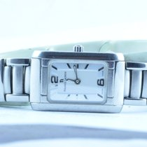 Maurice Lacroix Carree Damen Uhr Vergoldet 22x32mm Mit Stahl Band