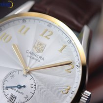 TAG Heuer Men's Carrera Heritage Steel and Gold on Leather...