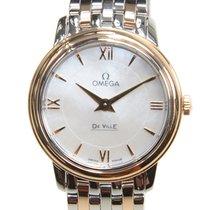 Omega De Ville 18k Rose Gold And Steel White Quartz 424.20.27....