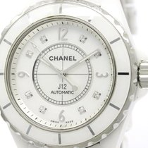 Chanel J12 Diamond Mop Dial Ceramic Automatic Mens Watch H2423...