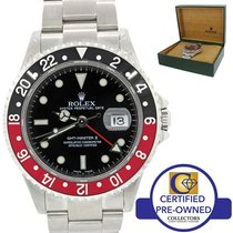 Rolex GMT-Master II Coke Red Black Steel 40mm Date Watch SEL