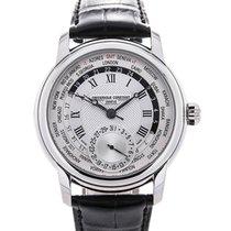 Frederique Constant Worldtimer Manufacture 42 Silver Guilloche