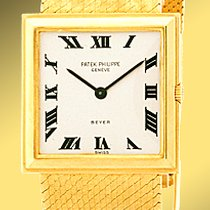 "Patek Philippe Vintage Gent's 18K Yellow Gold  ""Square..."