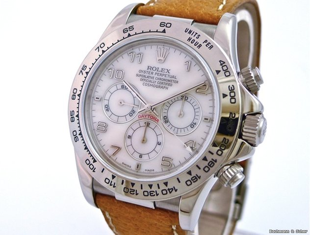 Rolex Daytona Cosmograph, 18k White Gold, Mother of Pearl Dial