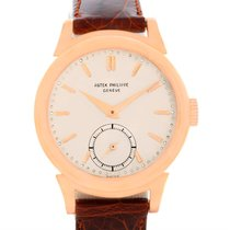 Patek Philippe Calatrava Vintage 18k Rose Gold Watch 1491 Year...