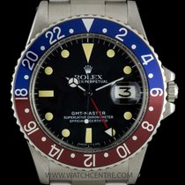 Rolex S/Steel O/P Black Dial Pepsi Bezel GMT-Master Gents 1675