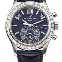 Patek Philippe 5961P Diamond Platinum Blue Annual Calendar...