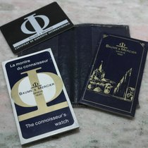 Baume & Mercier vintage kit warranty card and booklets for...