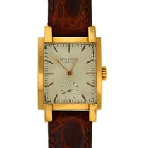 Patek Philippe 2443 Vintage 1950 in Yellow Gold - on Brown...