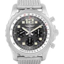 Breitling Chronospace Chronograph Steel Mens Watch A23360 Box...