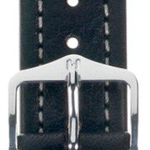 Hirsch Uhrenarmband Leder Buffalo schwarz L 11320250-2-18 18mm
