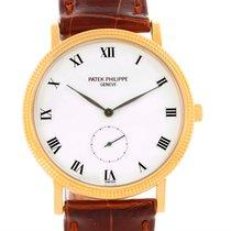 Patek Philippe Calatrava Hobnail Bezel 18k Yellow Gold Watch 3919