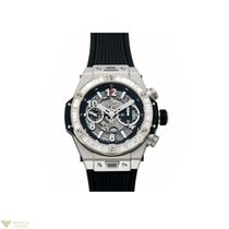 Hublot Big Bang Unico 45mm 18K White Gold Baguette Men`s Watch