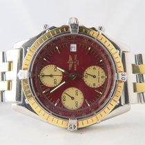 Breitling Chronomat 18k Gold Steel Red Dial