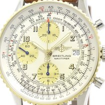 Breitling Polished Breitling Old Navitimer 18k Gold Steel...