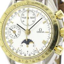 Omega Polished Omega Speedmaster Triple Date Moon Phase Watch...