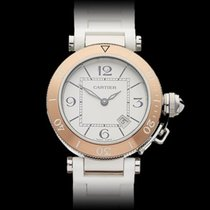 Cartier Miss Pasha SeaTimer Stainless Steel/18k Rose Gold...